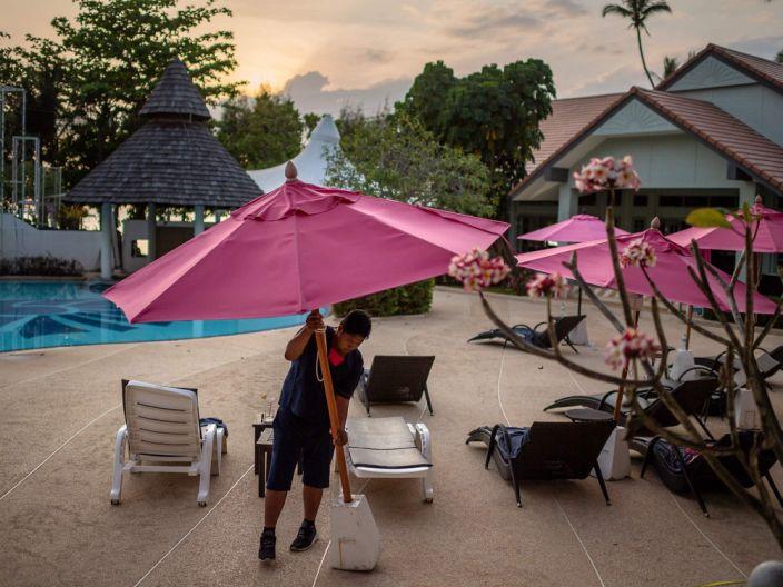 Ao Nang beach in Krabi, as tourism sees drop during coronavirus outbreak