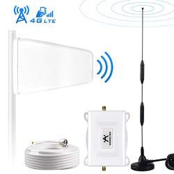 AT&T Signal Booster 4G LTE Cell Phone Signal Booster Amplifier 4G Cell Signal Repeater WOKELINK High Gain FDD 700Mhz Band 12/17 ATT Mobile Phone Signal Booster for Home Use