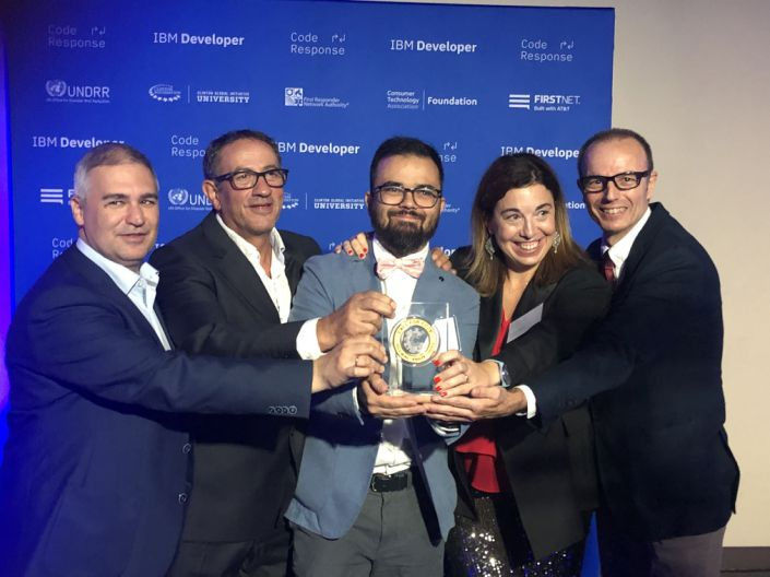 Prometeo won the 2019 Call for Code Global Challenge.
