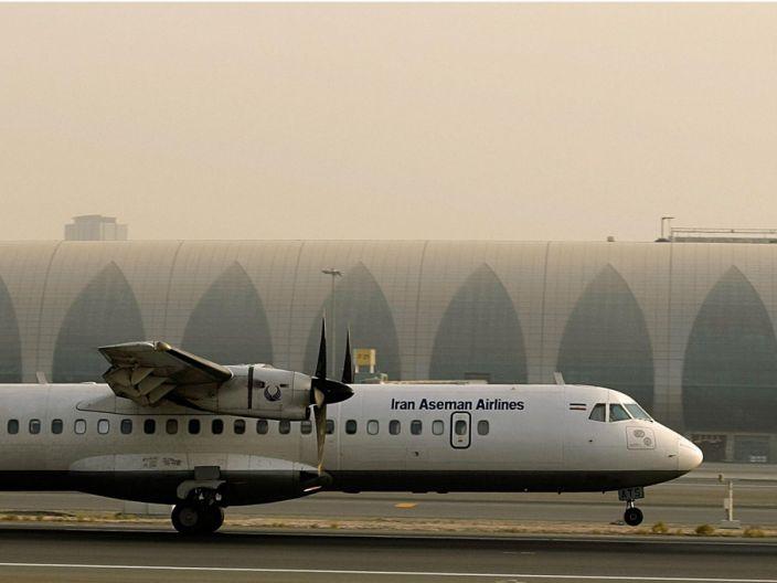 An Iran Aseman Airlines ATR-72 in Dubai.