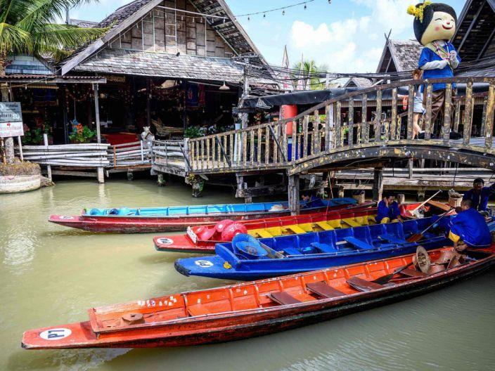 Floating market in Patayya, Thailand, is empty