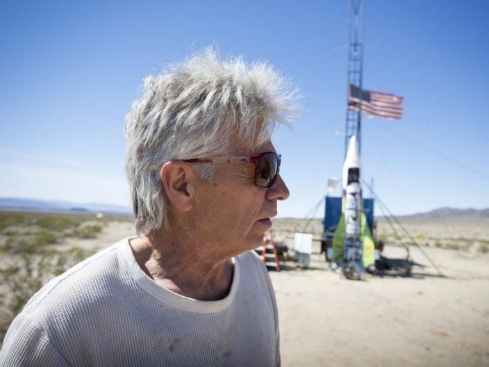 "Michael ""Mad Mike"" Hughes was famous for his goal to launch himself into space with a homemade rocket."