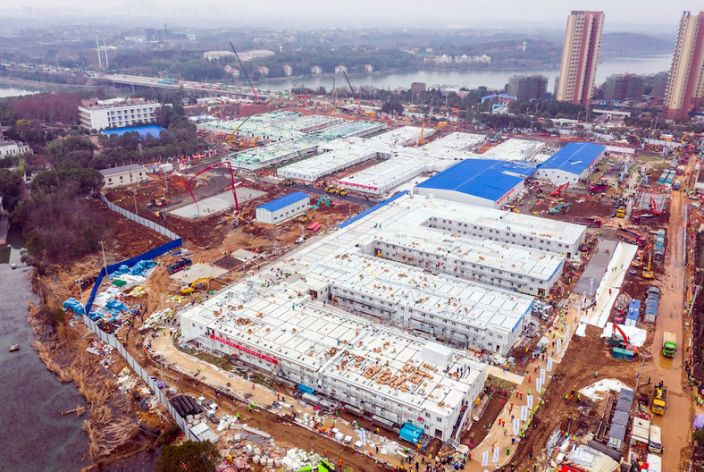 Two hospitals were built in Wuhan in a matter of days.