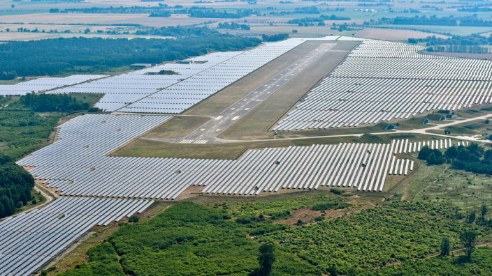 Solar installations require lots of land