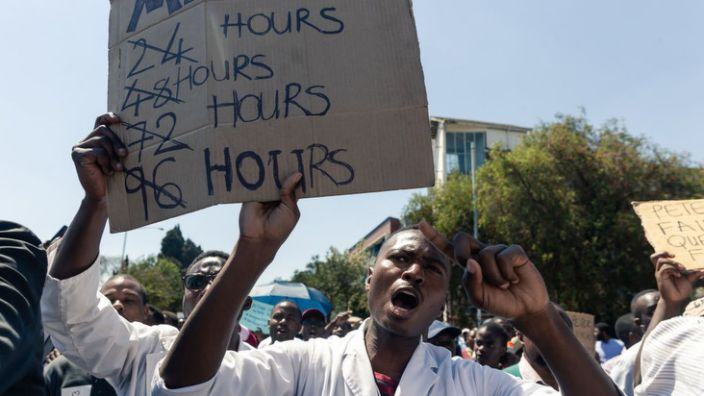 Zimbabwe's doctors were on strike until January over pay and conditions, including the lack of equipment