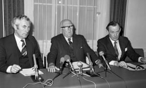 Former British Olympic Association chairman Sir Denis Follows (centre) insisted sporting boycotts 'never do anyone any good', much to the chagrin of Margaret Thatcher.