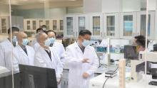 Chinese President Xi Jinping inspected the research on Covid-19 vaccine during his visit to the Academy of Military Medical Sciences in Beijing on March 2.