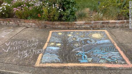 One of the pieces drawn in Daphne Sashin's Mountain View, California, neighborhood.