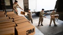 The British Army has been deployed to deliver protective equipment to hospitals.