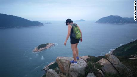 Jinkie Alhambra, a 48-year-old domestic worker from the Philippines, on her day off in Hong Kong.