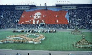 The opening ceremony of the Moscow Olympics in 1980.
