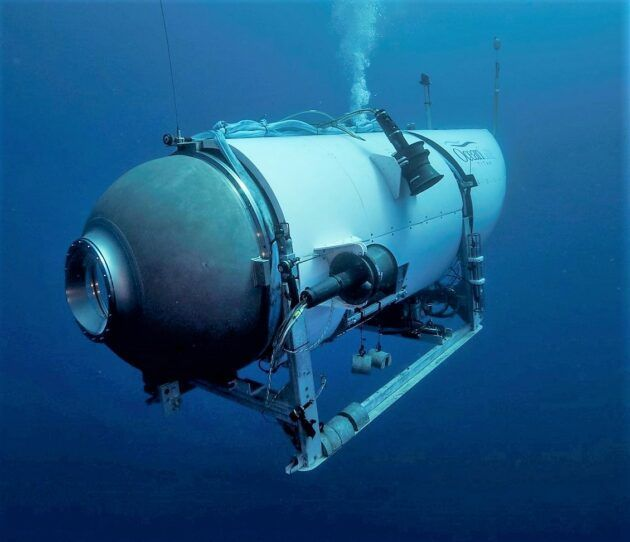 OceanGate's Titan submersible made use of carbon composite for its pressurized hull, and the company's future submersibles will up the ante when it comes to carbon fiber. (OceanGate Photo)