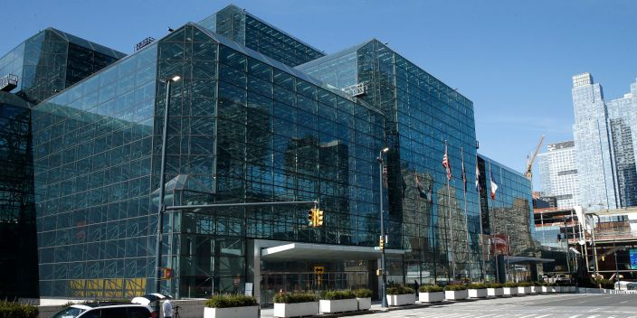 Exterior of the Jacob Javits Convention Center in New York, United States, on March 21, 2020. New York State Governor Andrew Cuomo, on the recommendation of the US Army Corps of Engineers selects the Jacob Javits Convention Center as one of four temporary hospital sites in New York State.