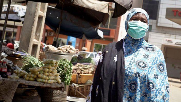 Some people have been seen taking precautions against coronavirus in the Malian capital, Bamako