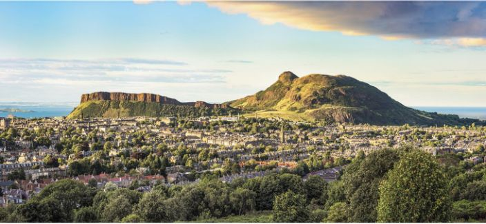 Sense of scale: Arthur's Seat, the extinct volcano in Edinburgh, is 250m high