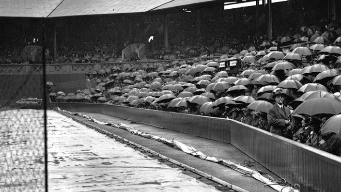 Wimbledon in the rain