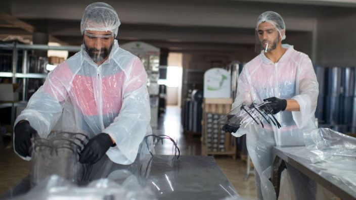 A company that normally makes bakery equipment in Morocco is now making protective masks