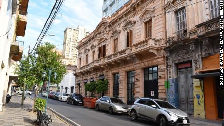 Picture of the facade of the hotel in Asuncion where Ronaldinho and his brother will serve house arrest.