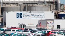 A Tyson Fresh Meats plant stands in Waterloo, Iowa.