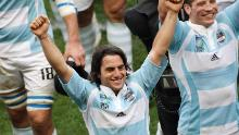 Pichot celebrates victory over Ireland at the 2007 Rugby World Cup.