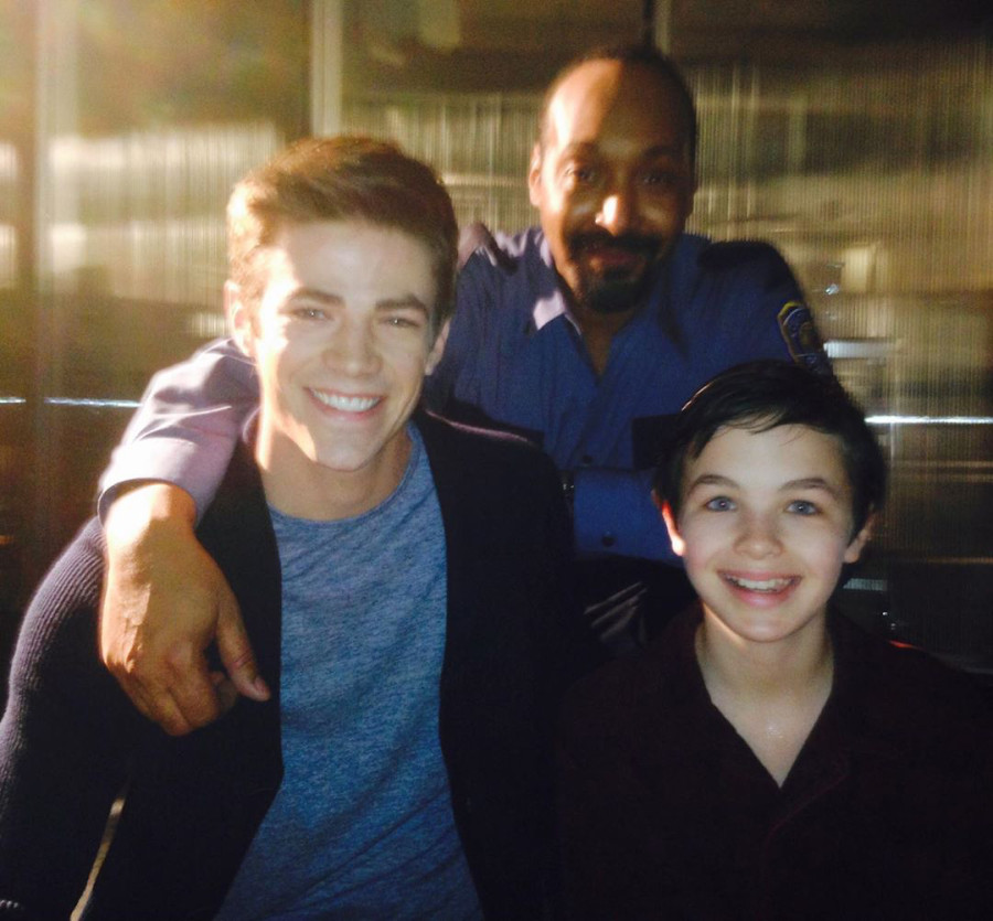 Grant Gustin, Jesse L. Martin, and Logan Williams Flash Alum Logan Williams Dead at 16