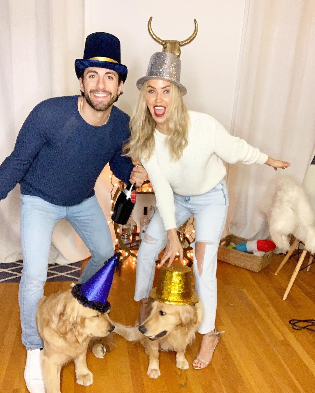 Kaitlyn Bristowe and Jason Tartick Have a Puppy Party in Quarantine