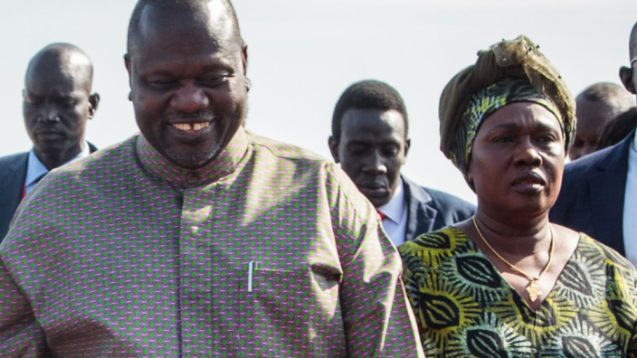 Riek Machar and his wife Angelina Teny were among several high-profile people to test positive