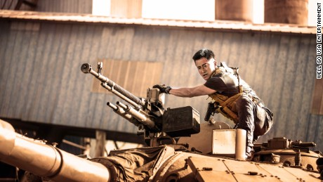 """A still from the patriotic Chinese film """"Wolf Warrior 2,"""" which was released to huge box office success in 2017."""