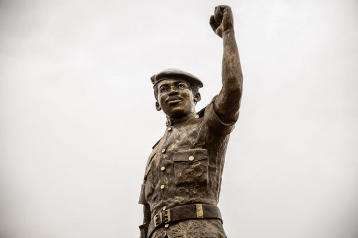 This new bronze statue is by the same sculptor - Jean Luc Bambara - who made the original...