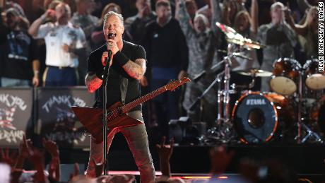 """James Hetfield of Metallica performs onstage during """"The Concert For Valor"""" on November 11, 2014."""
