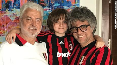 Paolo Agostinelli, right, is pictured with his father and son.