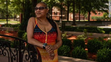 Minnesota resident Cheryl Kendle at the King Center in Atlanta on May 30. Kendle lives in a town adjacent to Minneapolis.