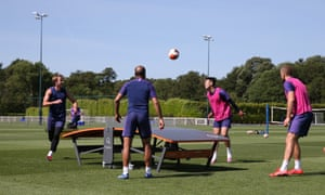 Tottenham players Harry Kane, Lucas Moura, Son Heung-min and Eric Dier are back in training.