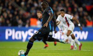 Mbaye Diagne refused to give designated penalty taker Hans Vanaken the ball against PSG after he was tripped but missed the spot-kick.