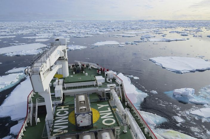 The western Weddell Sea is not an easy place to work because of its abundant sea-ice
