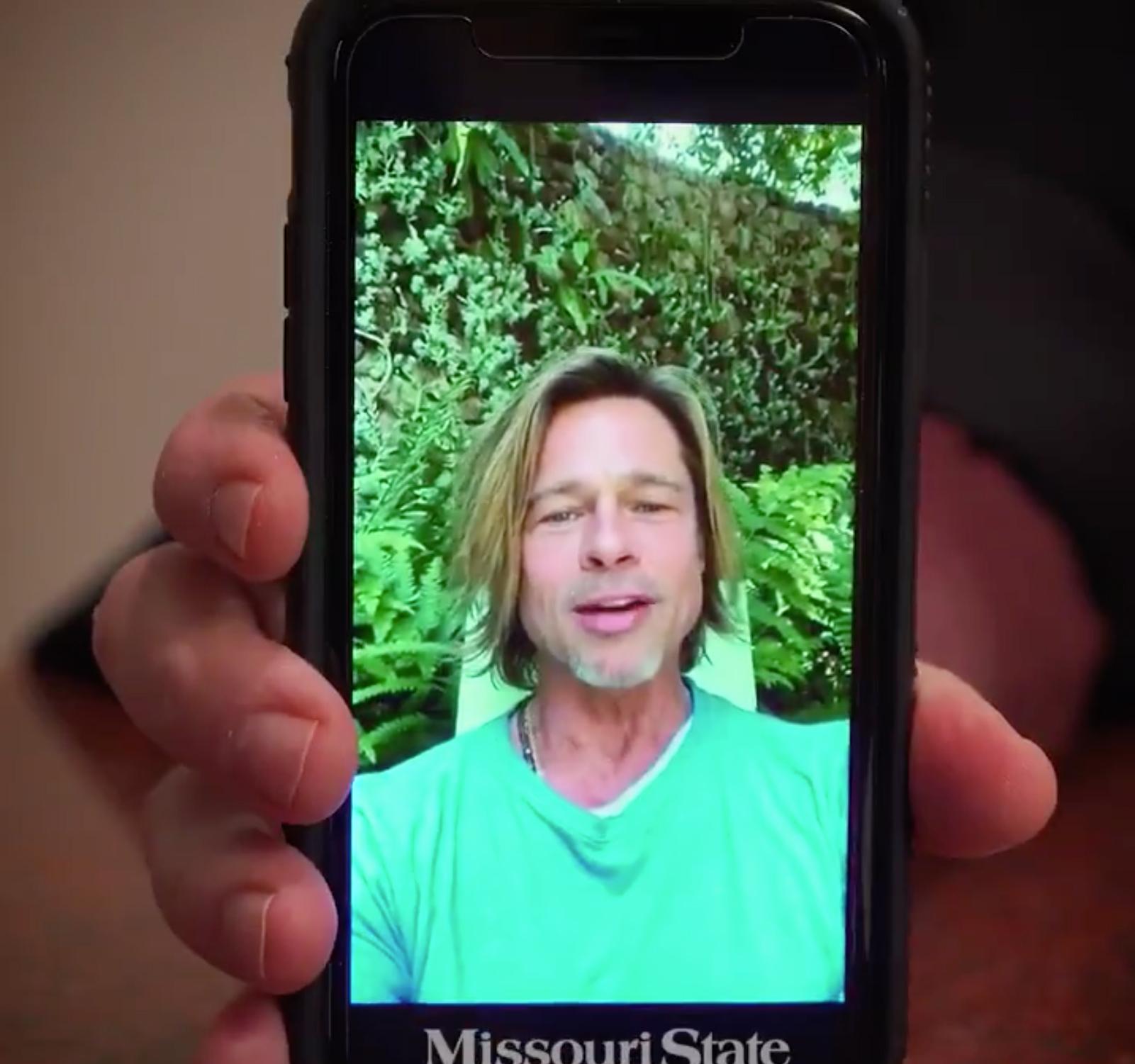 Brad Pitt Surprises Missouri State Grads With Heartfelt Message