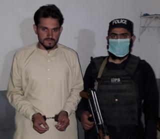 Muhammad Aslam in police custody, 20 May, 2020