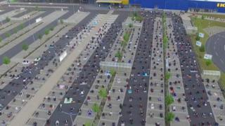 Ikea in Wetzlar, western Germany, let a local mosque hold prayers in its car park