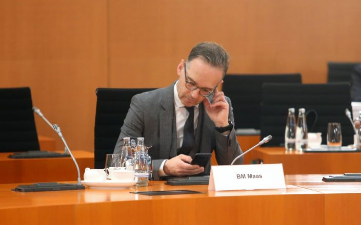 """Heiko Maas said Britain's position was """"simply not on"""" - GETTY IMAGES"""