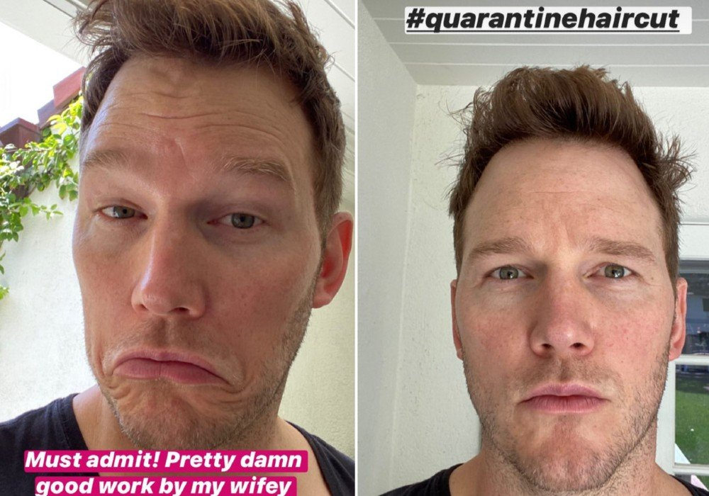 Katherine Schwarzenegger Gives Husband Chris Pratt A Haircut While In Quarantine
