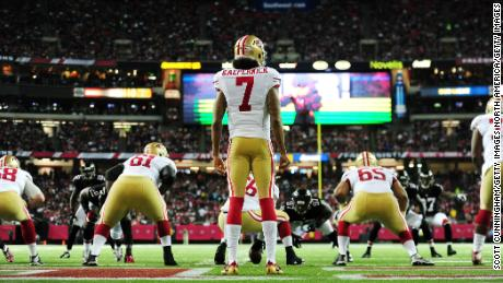 Kaepernick played for the 49ers for six years