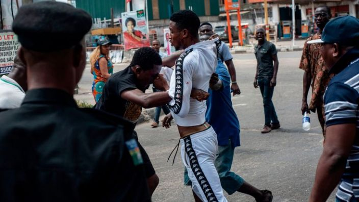 Gangsters known locally as area boys operate in most bus-stops and flyovers in Lagos