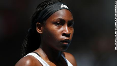 Coco Gauff has demanded change and urged people to vote.