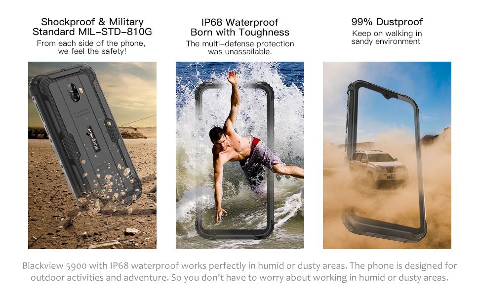 Waterproof Unlocked Smartphone 4G LTE