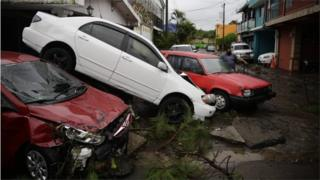 View of the damage caused by tropical storm Amanda, in San Salvador, El Salvador, 31 May 2020.