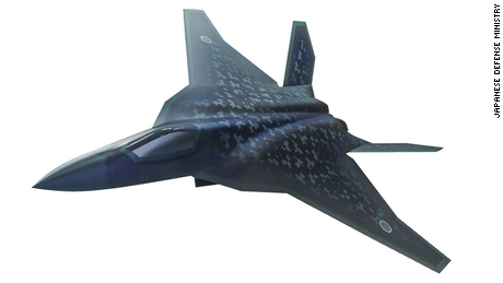 A sketch of Japan's planned F-3 stealth fighter.