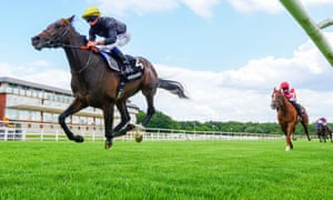English King pictured winning the Derby Trial at Lingfield.