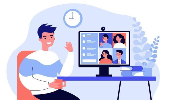 illustration of online meeting