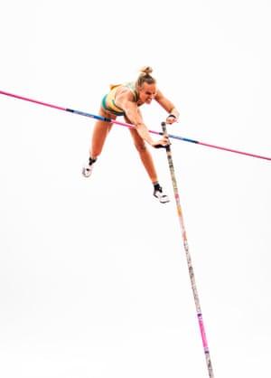 Pole vaulter Elizaveta Parnova the Oceania Athletics Championships in Townsville in June last year.