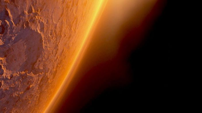 Artwork: Did Mars ever host life? The evidence could be held in the planet's rocks